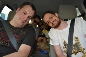 Auto 1: Faxe, Lubo, Rprincess mit Tux und ICBeter