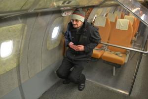 ICBeter macht es sich in der Businessclass der Tupolev bequem