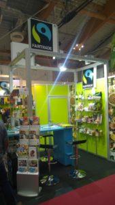 Der Fairtrade-Stand ist sicher das wichtigste auf der Messe!
