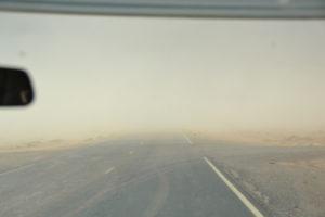 Sand und Sturm sind keine gute Kombination