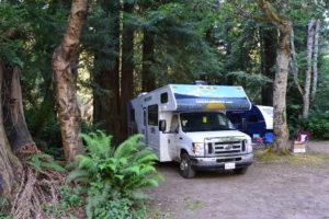 Campen im Wald